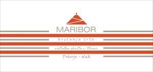 """Logotip """"MARIBOR – Piramida, barvne proge, verzi"""""""